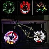 CYCPLUS Bike Spoke Lights - LED Bicycle Wheel Light, USB Rechargeable Bike Light, Programmable Pics Rainproof Rim Accessory, with DIY XuanWheel APP for Night Riding