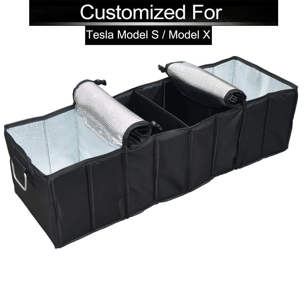 TeslaWorld Kofferraumstiefel Organizer faltbarer faltbarer Stamm Aufbewahrungsbox Einkaufen Reise Halter Multi-Funktions-Schwarz-Koffer-Box
