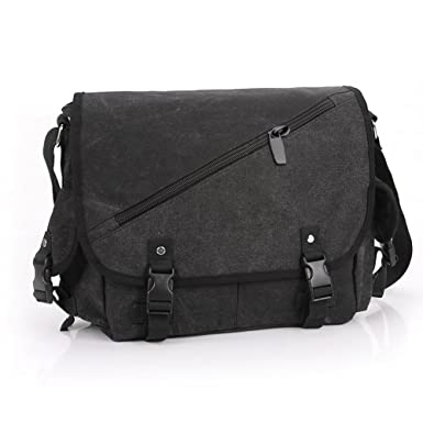 Amazon.com | Casual Canvas Messenger Bag Crossbody Bag Shoulder ...