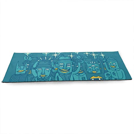 Amazon.com : Foster The People Yoga Mat Eco Friendly Non ...