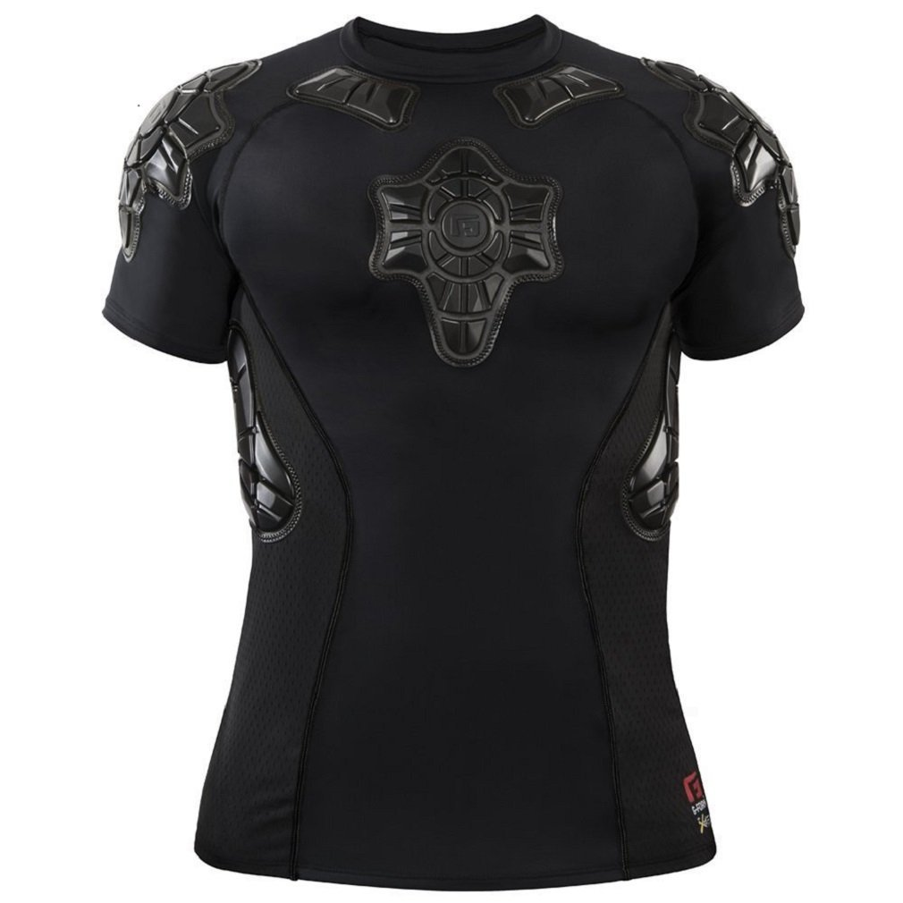 G-Form Youth Pro-X Short Sleeve Compression Shirt, Black, X-Large