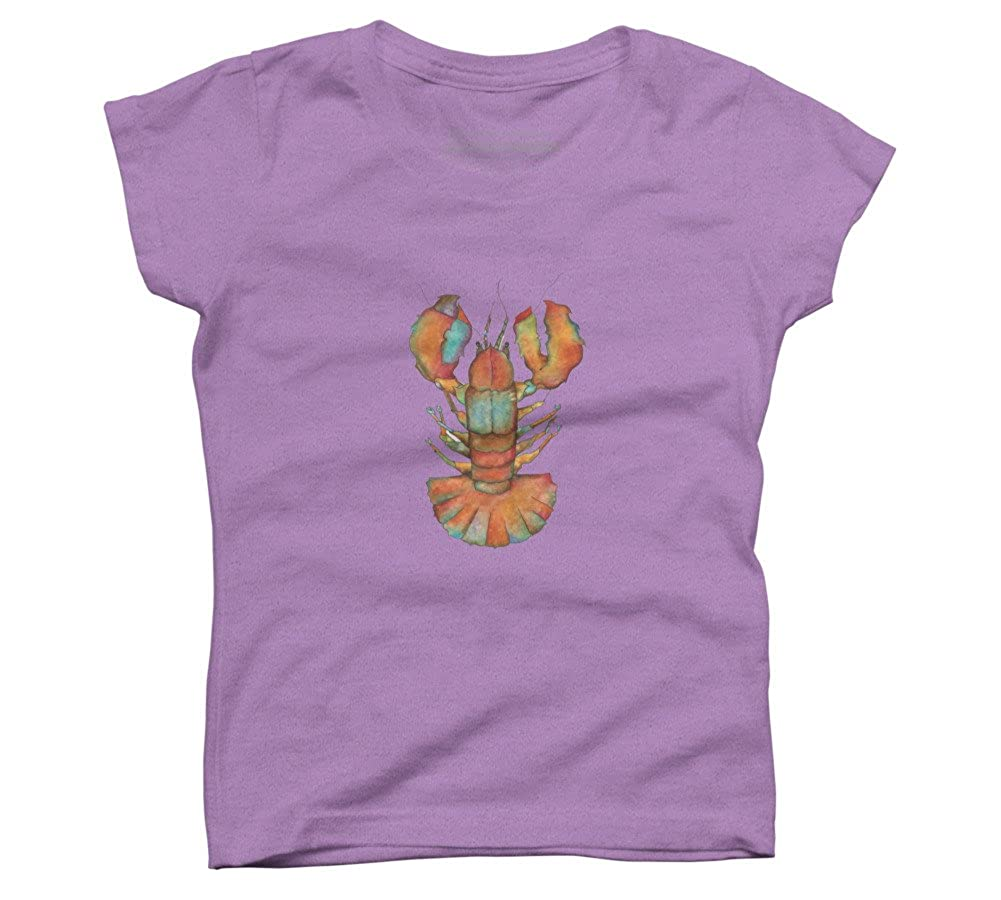 Design By Humans Lobo Girls Youth Graphic T Shirt