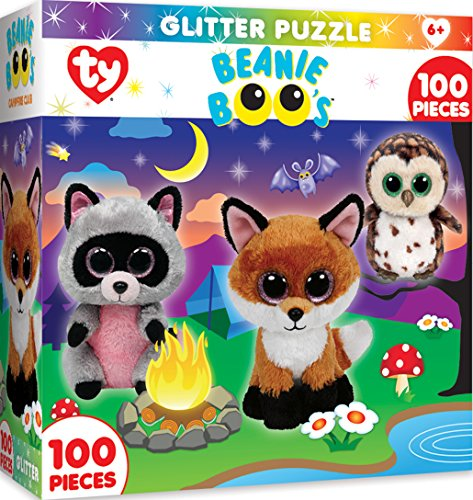 MasterPieces Ty Beanie Boo Campfire Club - 100 Piece Glitter Kids Puzzle