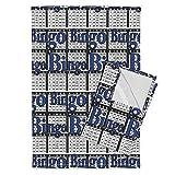 Roostery Bingo Tea Towels Bingo Black Paper With Bingo Text by Dd Baz Set of 2 Linen Cotton Tea Towels