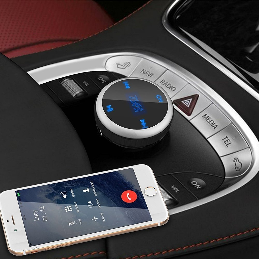 Wireless Bluetooth Car Kit FM Transmitter with Smart Car Locator, Handsfree Call, Car MP3 Player with Dual USB Charger Radio Adapter - Silver by Aphaca (Image #7)
