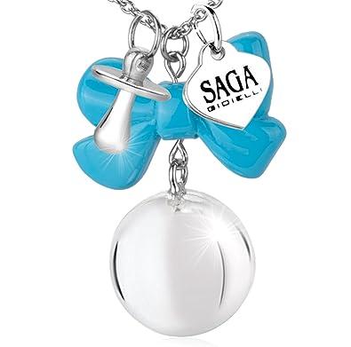 Saga joyas collar Chiama ángeles lazo Chupete Regalo azul ...