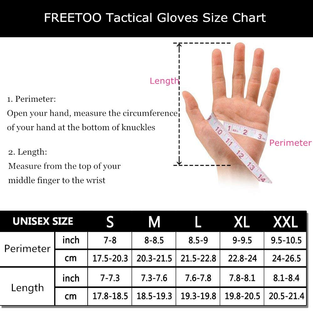 TPRANCE Tactical Gloves for Men, Full Finger Hard Knuckle Gloves for Outdoor Sports by TPRANCE (Image #8)