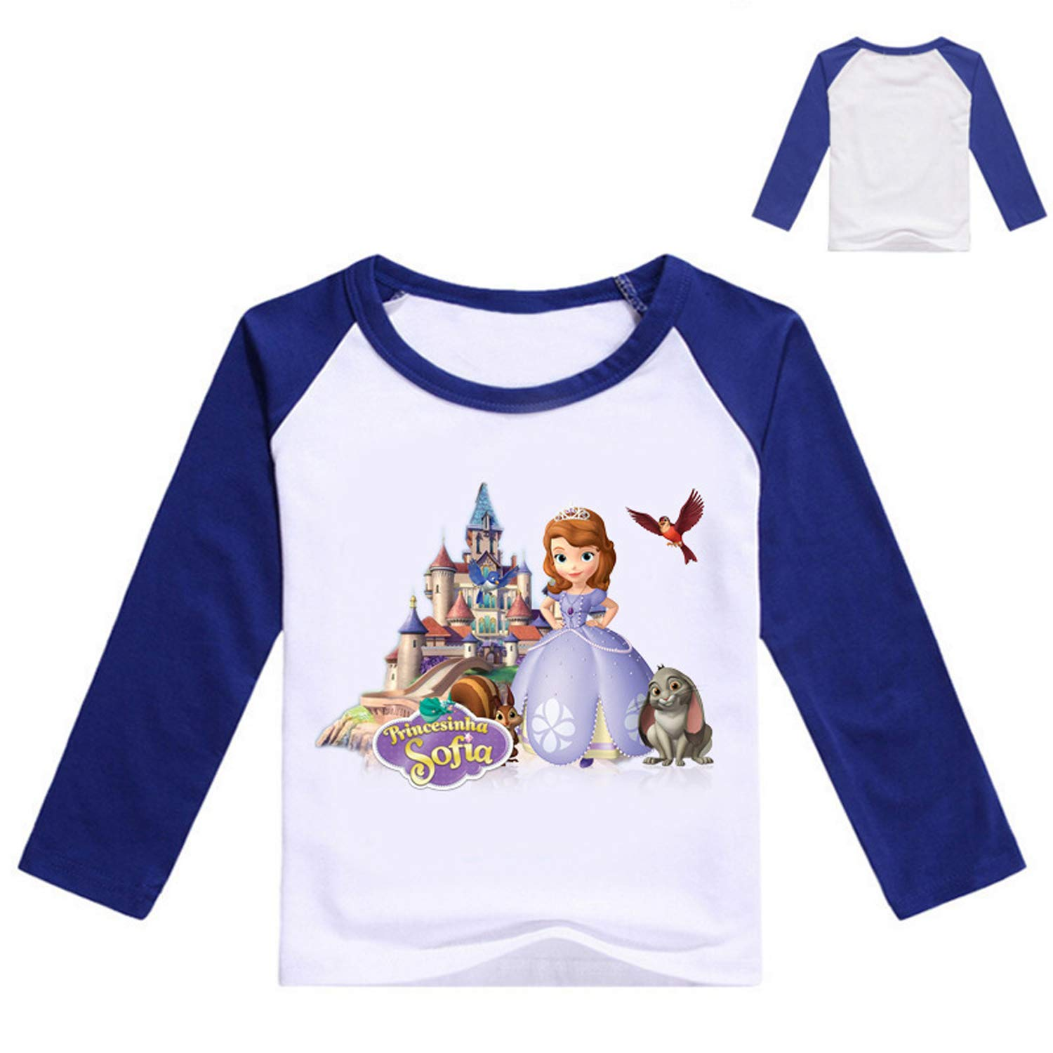 PCLOUD Toddler Girls Sofia Purified Cotton Long Sleeves T-Shirt