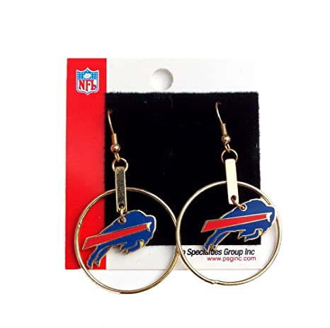 Image Unavailable. Image not available for. Color  Buffalo Bills Earrings  Hoop Silver Women s ... 99186892d