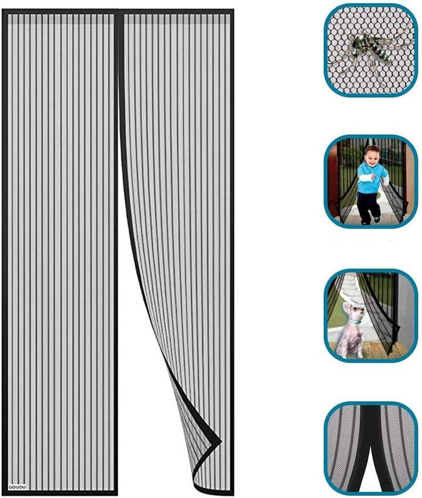 Se puede instalar sin taladrar Mosquitera Magn/ética Autom/ático para Puertas Cortina de Sala de Estar la Puerta del Balc/ón Puerta Corredera Patio Mosquitera Magn/ética Para Puertas Cortina Para