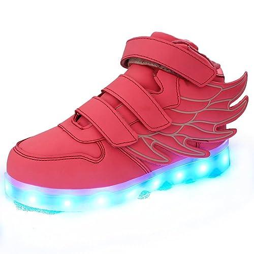 SLEVEL Zapatillas con luz LED y carga por USB para niños y niñas: Amazon.es: Zapatos y complementos
