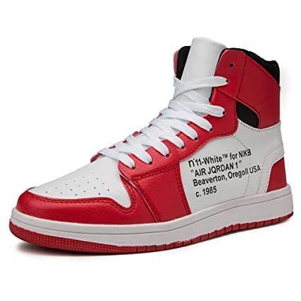 0151942bb6f32 Amazon.com: HEmei Men's New Basketball Shoes Fall Winter High-top ...