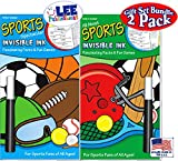 "Invisible Ink: Yes & Know Sports Game Books ""Sports Spectacular"" & ""All About Sports"" Fascinating Facts & Fun Games Activity Books Gift Set Bundle – 2 Pack"