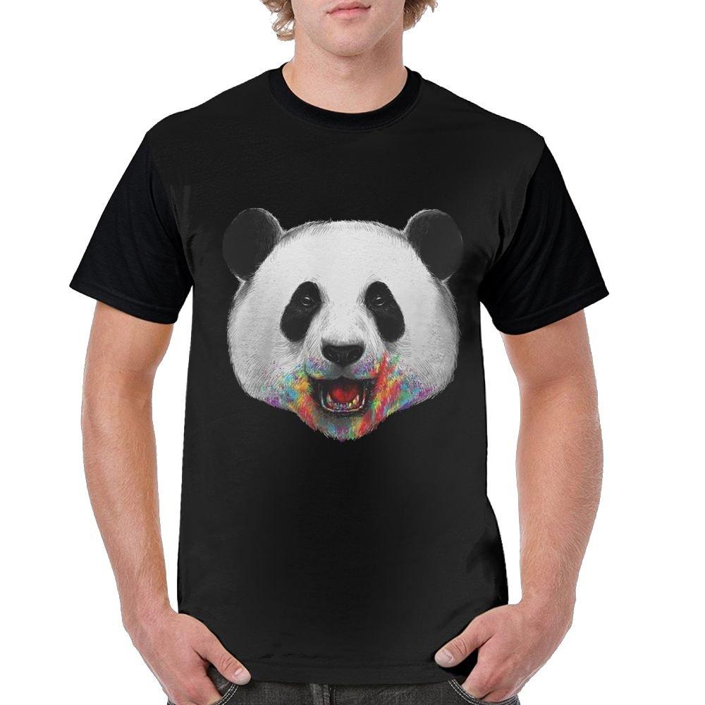 3b9b60339fe7 Amazon.com  Simoner Panda 3D Print T-Shirt Short Sleeves Tee Creative   Clothing