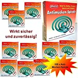 100x espirales insecticidas contra Moscas, mosquitos e insectos