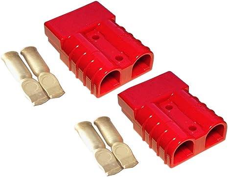 Batterie Stecker 50a 10 Mm2 Rot Set Steckverbinder Für Gabelstapler Kabel Beleuchtung