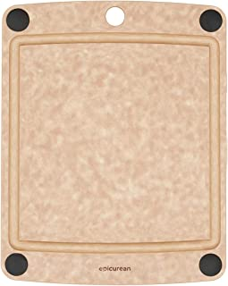 """product image for Epicurean All-In-One Cutting Board with Non-Slip Feet, 11.5"""" × 9"""", Natural/Black,505-120901003"""