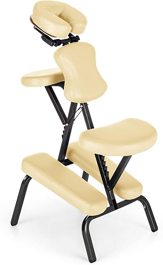 Klarfit MS 300 Silla de masaje con bolsa de transporte (silla de ...