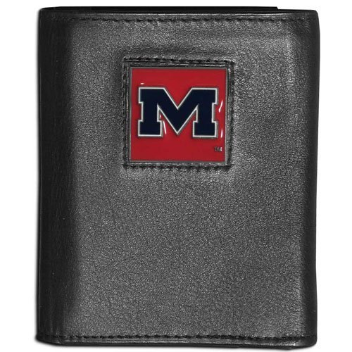 NCAA Mississippi Old Miss Rebels Leather Tri-Fold Wallet