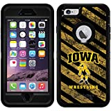 Iowa - Wrestling Stripes design on Black OtterBox Defender Series Case for iPhone 6 Plus and iPhone 6s Plus