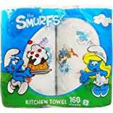 Kitchen paper towel ' Smurfs ' two-roll pack : 3 -layer 160 sheet ( made ??in Italy )