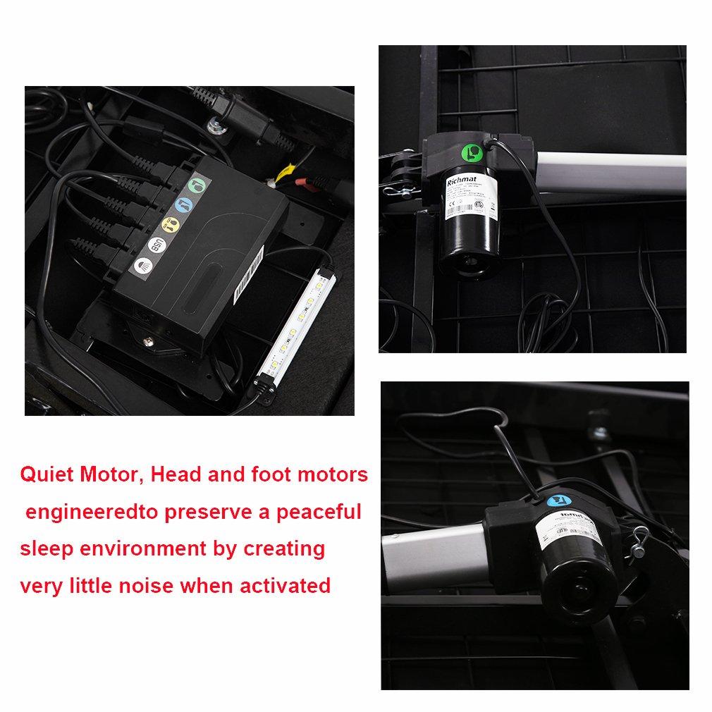 Adjustable Bed Base Adjustable bed Mattress Foundation frame Posture with Massage,Wireless Remote,Zero Gravity Remote USB,Twin XL