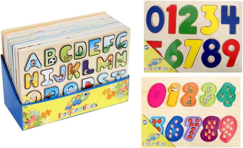 MGM 050840 - Puzzle en Madera (Cifras o Letras, Modelo al Azar, 29 ...