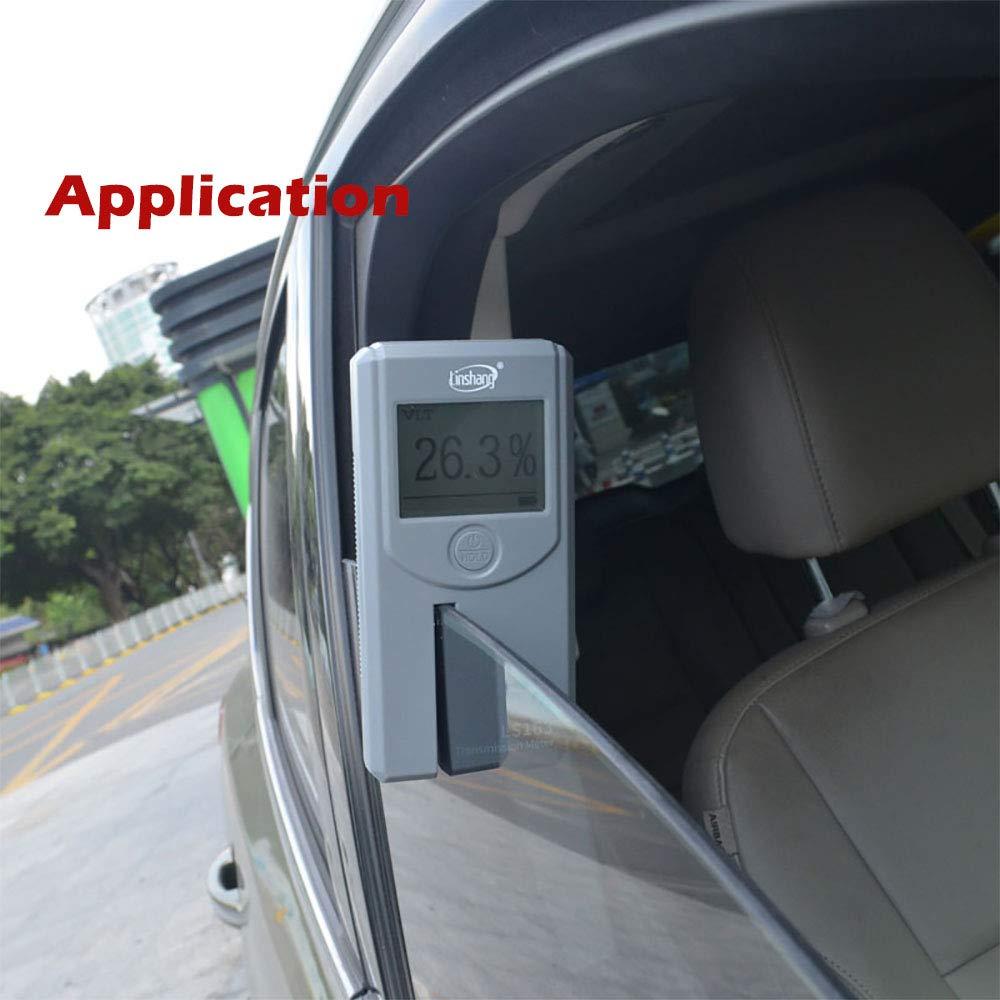 LS163 Transmission Meter Window Film Transmission Meter for Automotive Windshield Glass VLT Infrared UV Transmittance Measuring