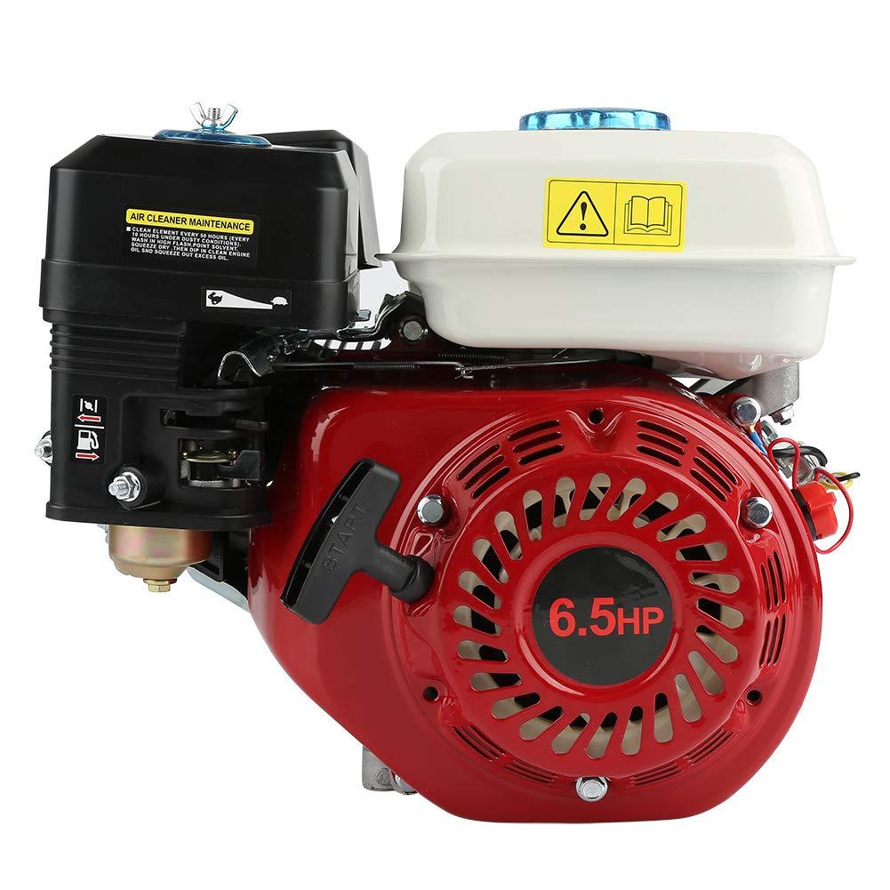 GOTOTOP Motor de Gasolina de 4 Tiempos, Motor de Gasolina de Repuesto de 6, 5 HP 168F OHV: Amazon.es: Jardín