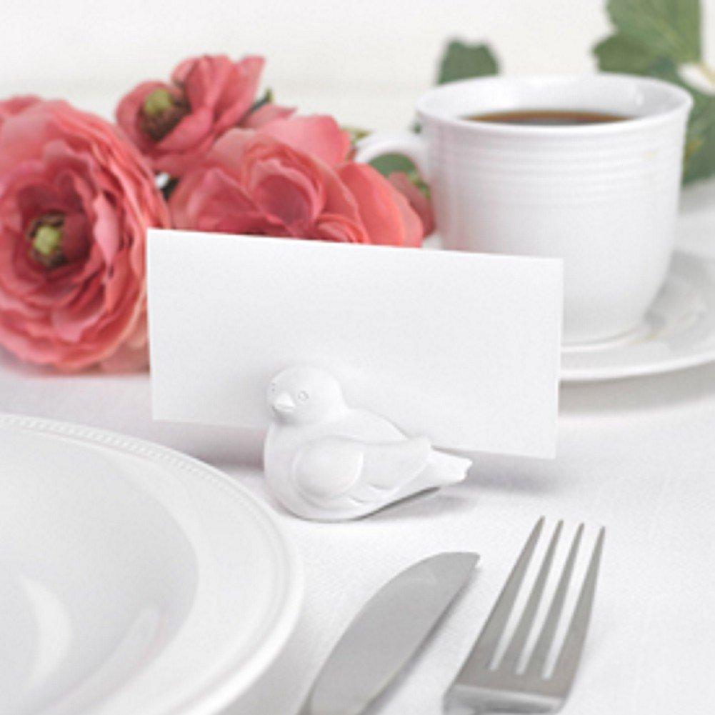 Love Bird White Card Holder - Set of 48
