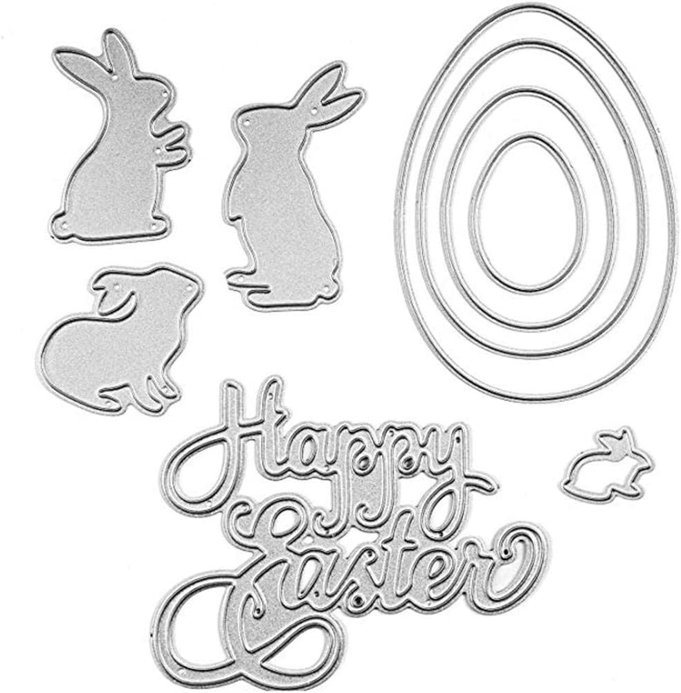 Floral Bunny Metal Cutting Dies For DIY Scrapbooking Photo Album Paper Cards