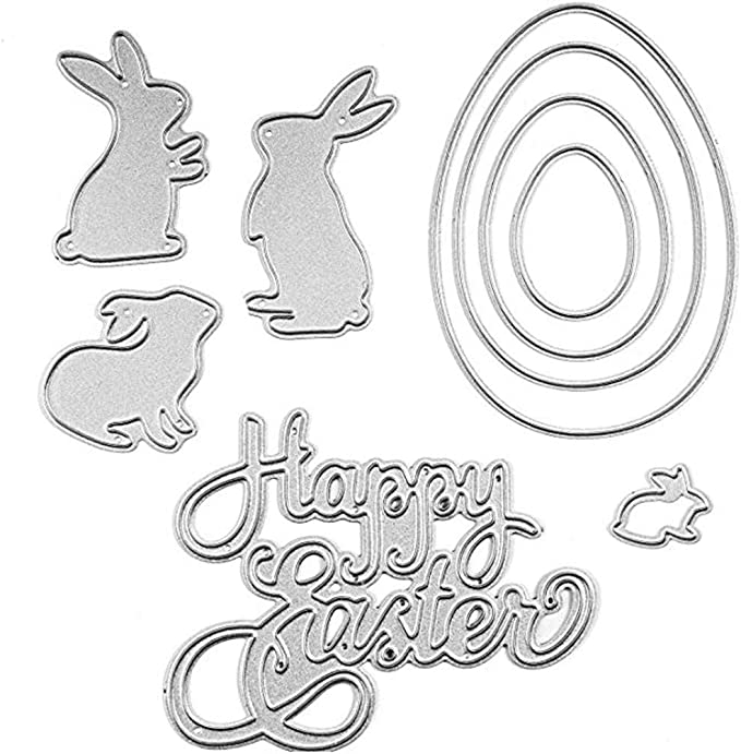 Rabbit Mother And Child Metal Cutting Dies Stencil  Scrapbooking Embossing Cr