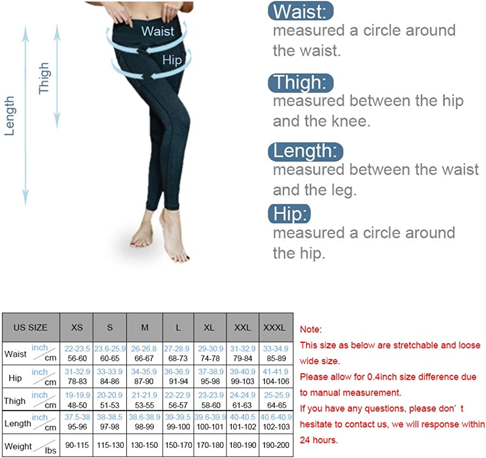 ASTSW Yoga Pants with High Waist for Women Running Gym and Tummy Control Workout Leggings with Pockets