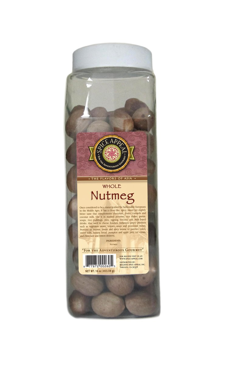 Spice Appeal Nutmeg Whole, 16 Ounce by Spice Appeal (Image #1)