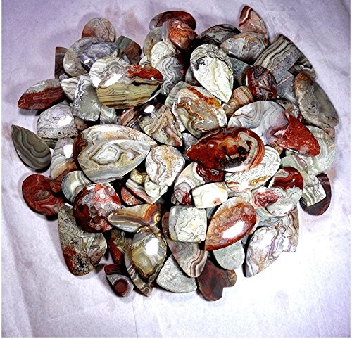 751CTS. WHOLESALE LOT NATURAL CRAZY LACE AGATE MIX CABOCHON GEMSTONE by Handmade
