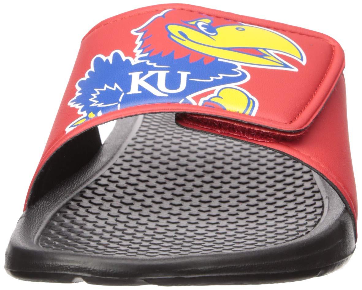 Medium Team Color NCAA Kansas Jayhawks Mens Cropped Big Logo SLIDEKANSAS Cropped Big Logo Slide Mens M
