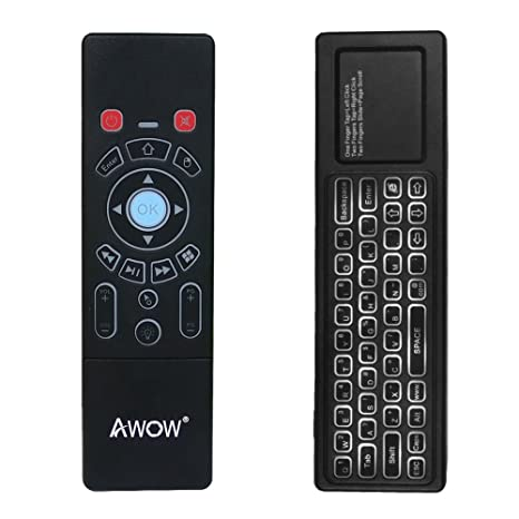 Mini Wireless Keyboard/Air Remote Control/Mouse/Touchpad with Colorful  Backlit for Windows Mini PC Stick