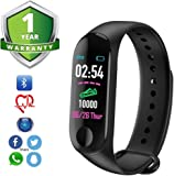 Forestone Fitness Tracker Watch M3 Heart Rate Band with Activity Tracker Waterproof Body Functions Like Steps Counter, Calorie Counter, Blood Pressure, Heart Rate Monitor OLED Touchscreen