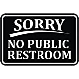 image relating to No Public Restroom Sign Printable known as : No General public Restrooms Indication - 12x6 : Backyard garden Indicators