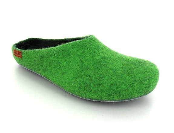 Magicfelt Hausschuh AP 701 in grün, Größe 40 EU Magicfelt