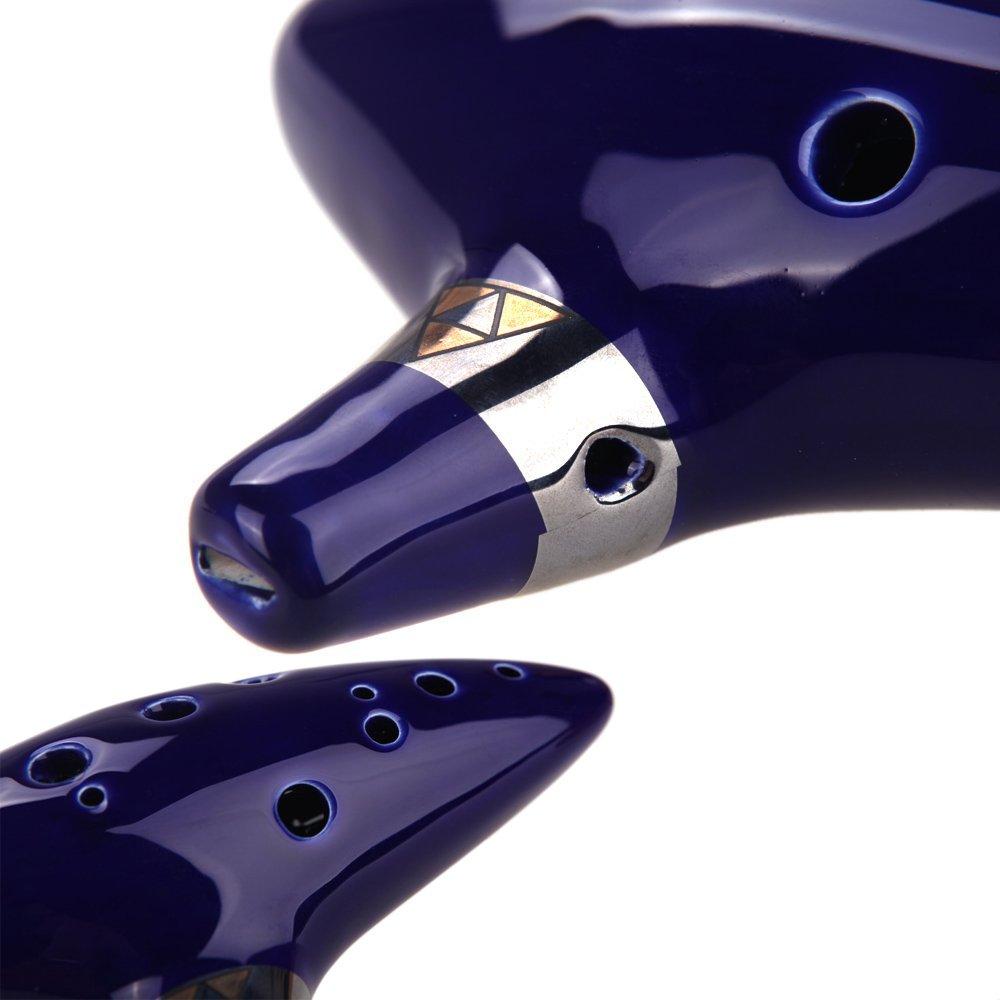 TOOGOO 12 trous Alto C ocarina pour les debutants bleu R conception Legend of Zelda