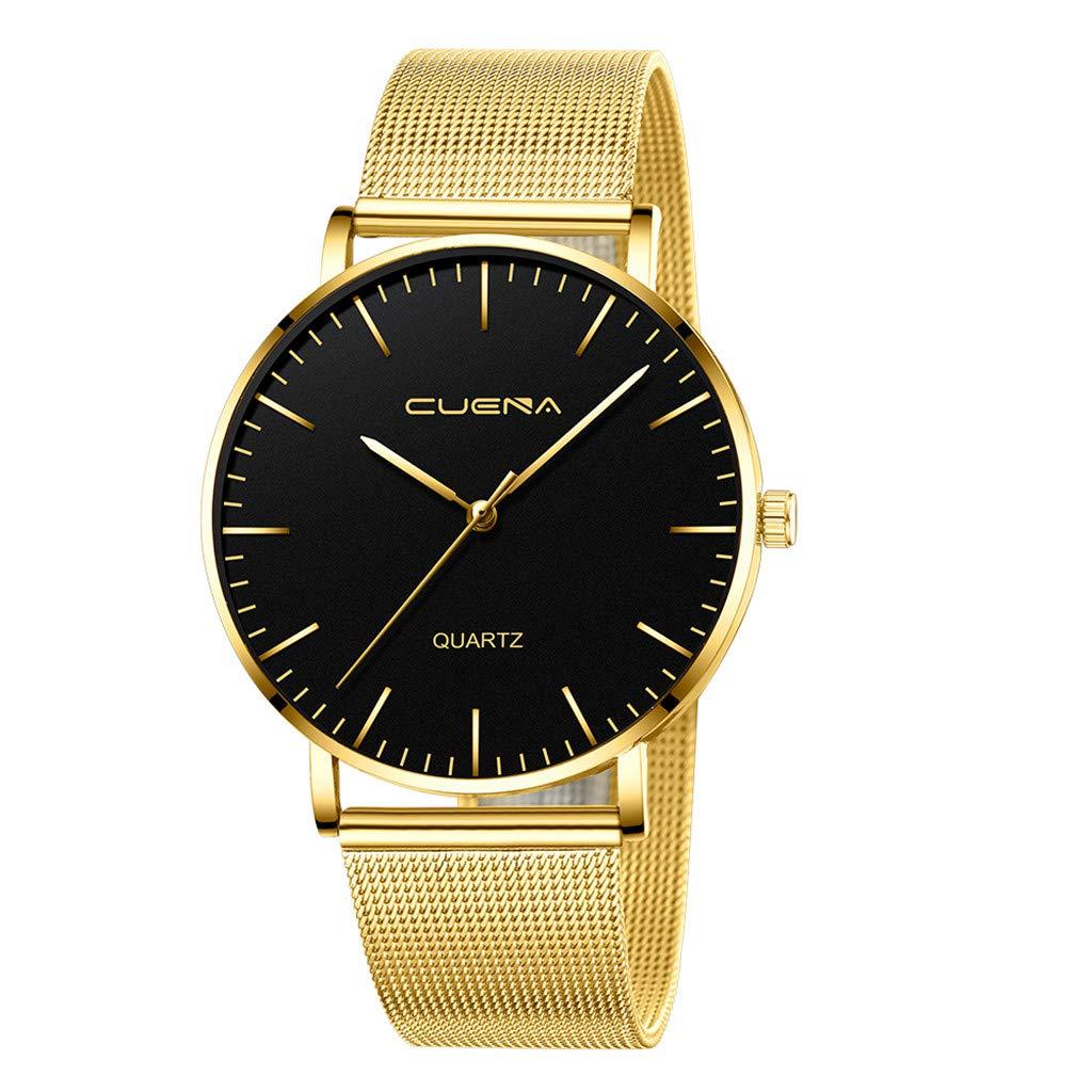 Men's Military Analog Quartz Watches,Clearance Frana Mesh Belt Watch Waterproof Waistwatch On Sale