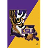 LSU Louisiana State Tigers Blue and Gold Tone 44 x 30 Rectangular Screenprint Large House Flag