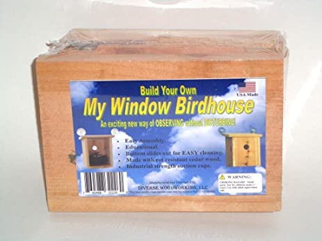 build your own window simple wood build your own my window birdhouse kit mount nesting view educational amazoncom mount