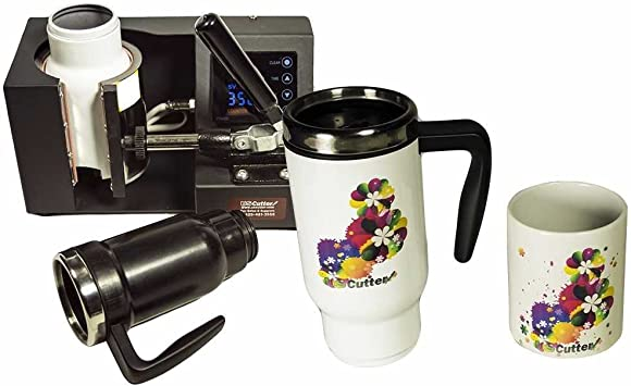 Automatic Digital Timer Black USCutter Mug Cup Heat Press Transfer Sublimation Machine