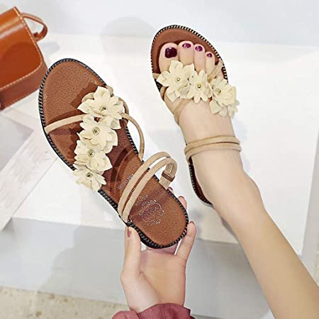 Zapatillas De Playa De Verano para Mujer Sandalias De Flores ...