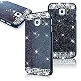 Samsung Galaxy S6 SM-G920F Diamond Hollow Case,Vandot Ultra Slim 3D Bling Sparkling Crystal Rhinestone Unique Design PC Hard Back Cellphone Cover,High Quality Anti-Scratch Protective Skin Shell-Black