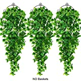 AGEOMET 3PCS Artificial Hanging Plants Fake