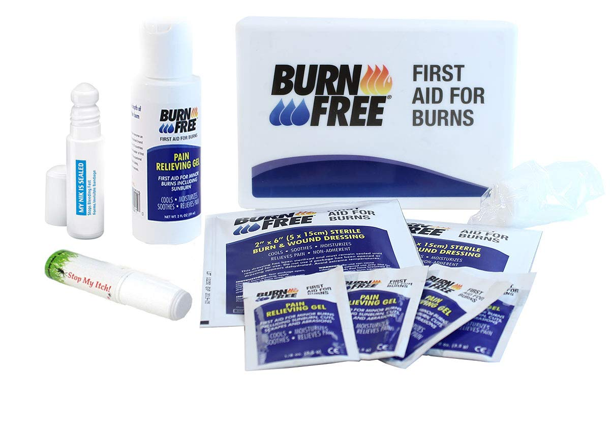 Burn Free Emergency First Aid and Burn Kit for Home and Travel, Bonus: My Nik is Sealed and Stop My Itch!