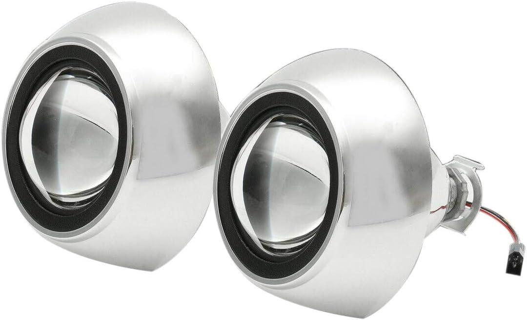 Lopbinte LHD 2PCS 2,5 pollici Bi-Xenon H1 HID Faro Proiettore Obiettivo Halo Ring Hi//Lo
